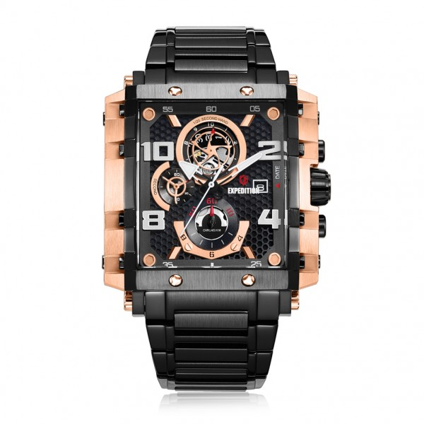 Expedition 6757 Rosegold Black Chain Man MCBBRBA