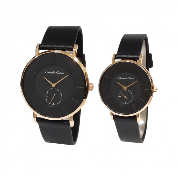 Alexandre Christie AC 8484 Rosegold Black Couple