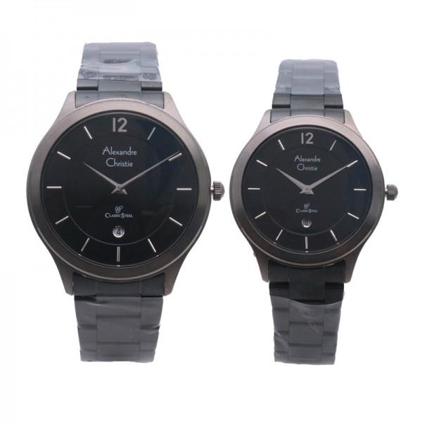 Alexandre Christie AC 8623 Black Grey Couple