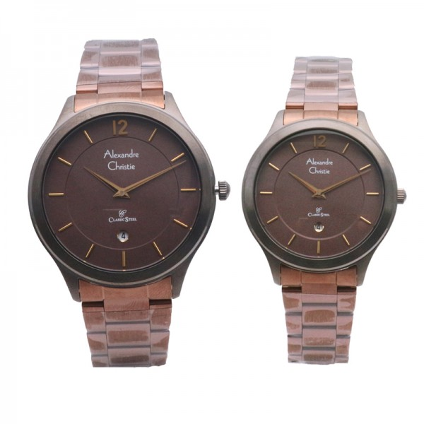 Alexandre Christie AC 8623 Brown Grey Couple