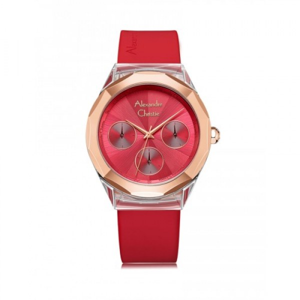 Alexandre Christie AC 2808 Rosegold Red Rubber BFRRGRE