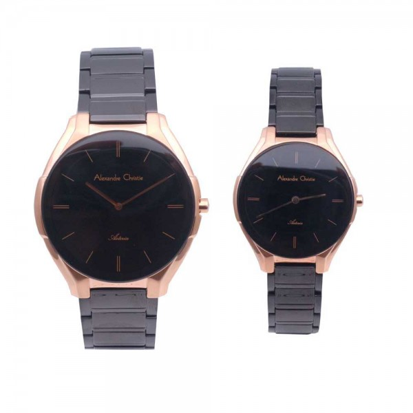 Alexandre Christie AC 8610 Rosegold Black Couple
