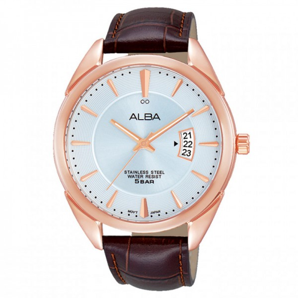 Alba AS9A86X1 Rosegold Brown Leather