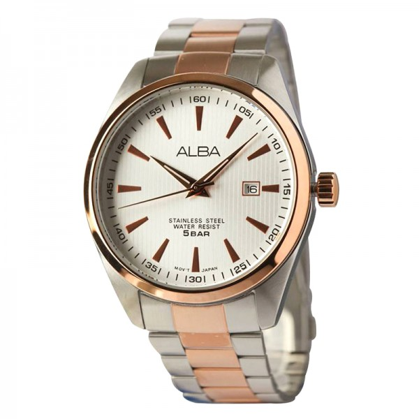 Alba AG8394X1 Silver Rosegold Man