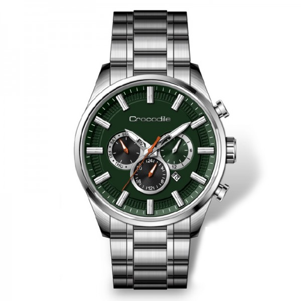 Crocodile CM-007A11D Silver Green