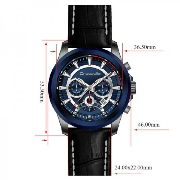 Crocodile CM-011G24C Black Blue